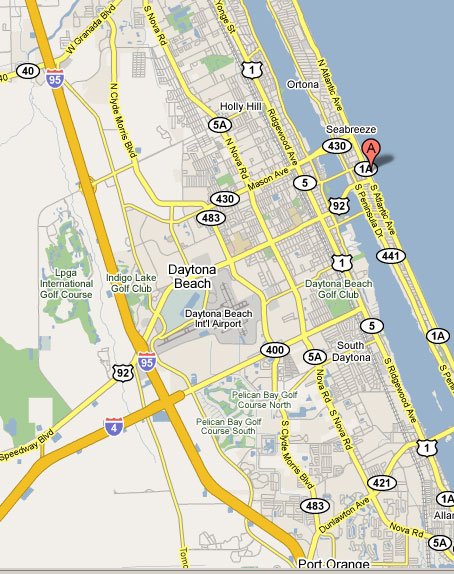 Daytona Beach Map