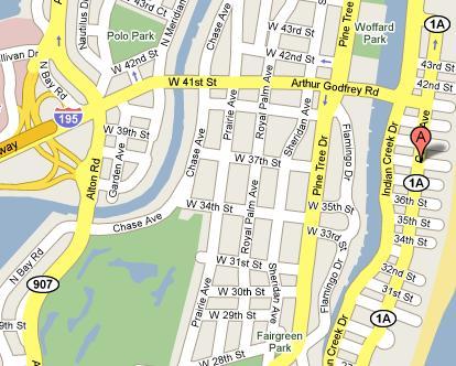 Map To Dollar Miami Beach